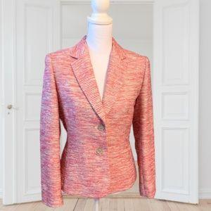 Pink Tahari Tweed Blazer Jacket